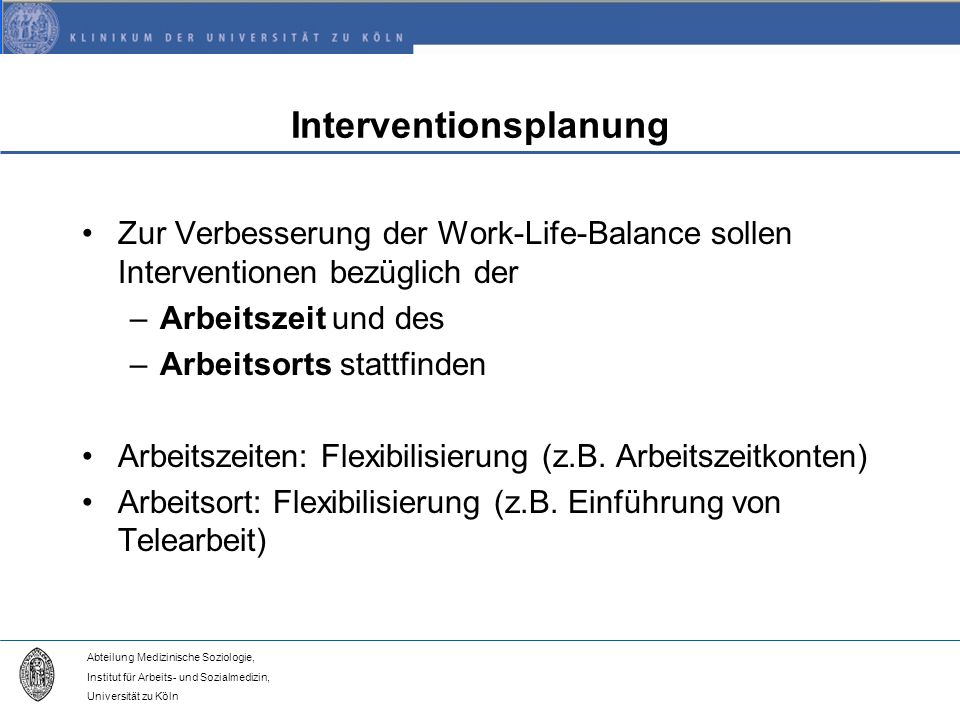 Interventionsplanung