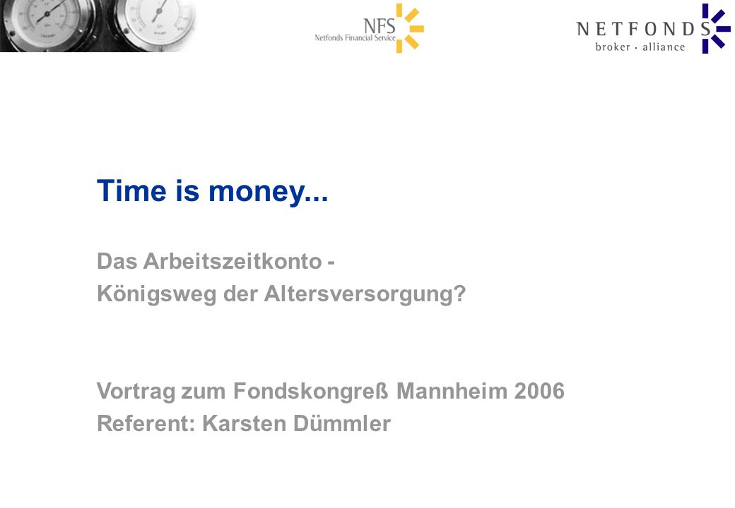 Time is money... Das Arbeitszeitkonto -