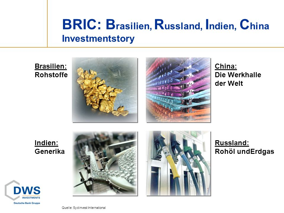 BRIC: Brasilien, Russland, Indien, China Investmentstory