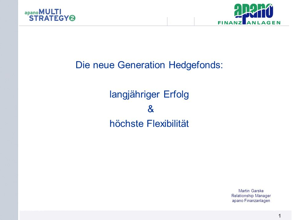 Die neue Generation Hedgefonds: