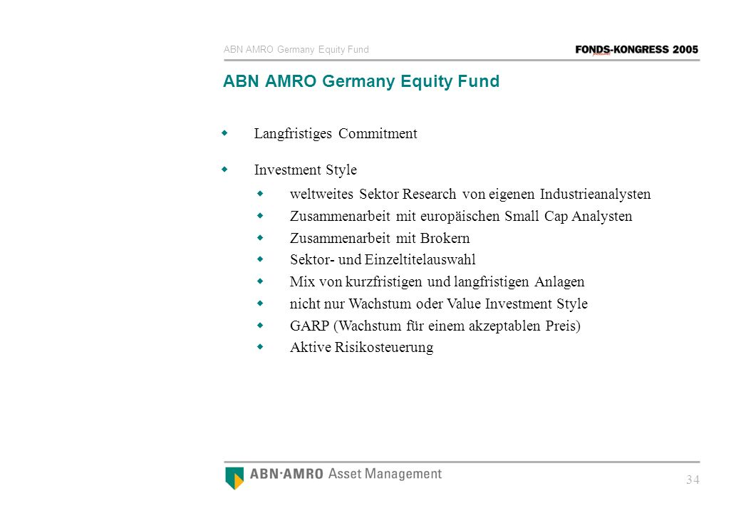 ABN AMRO Germany Equity Fund