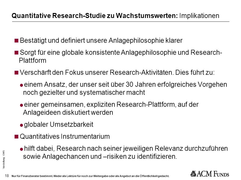 Quantitative Research-Studie zu Wachstumswerten: Implikationen