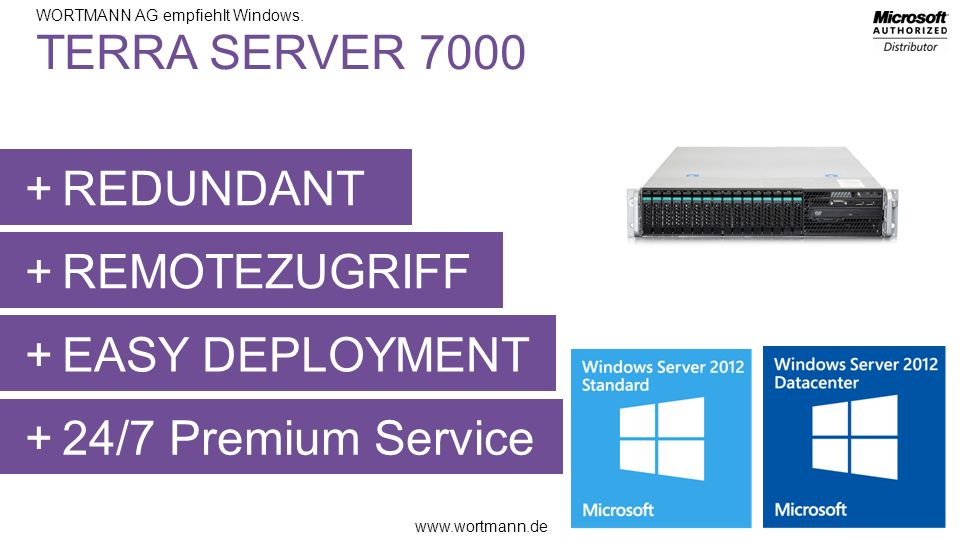 TERRA SERVER 7000 REDUNDANT REMOTEZUGRIFF EASY DEPLOYMENT 24/7 Premium Service