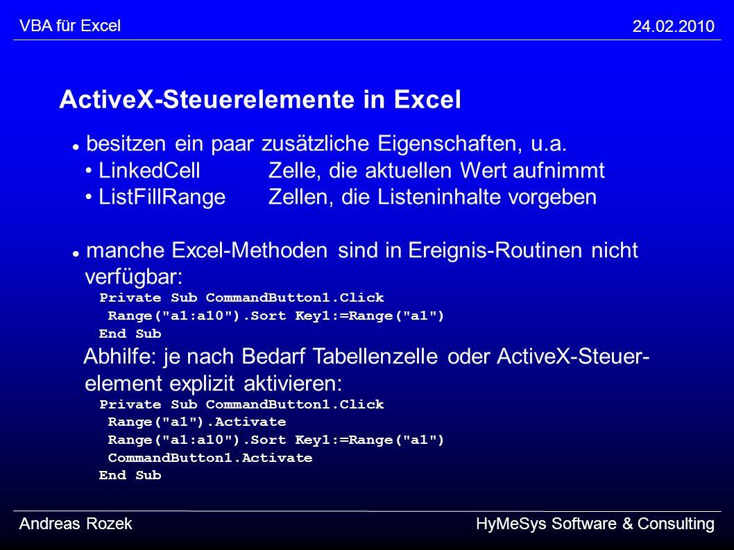 VBA für Excel VBA für Excel - ppt herunterladen