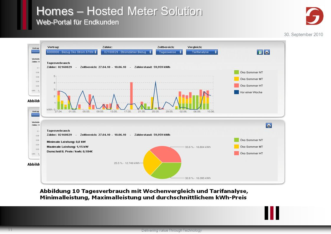 Homes – Hosted Meter Solution Web-Portal für Endkunden