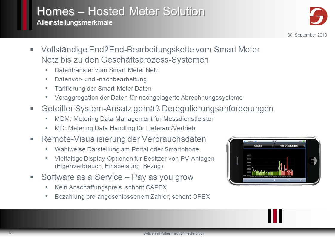 Homes – Hosted Meter Solution Alleinstellungsmerkmale
