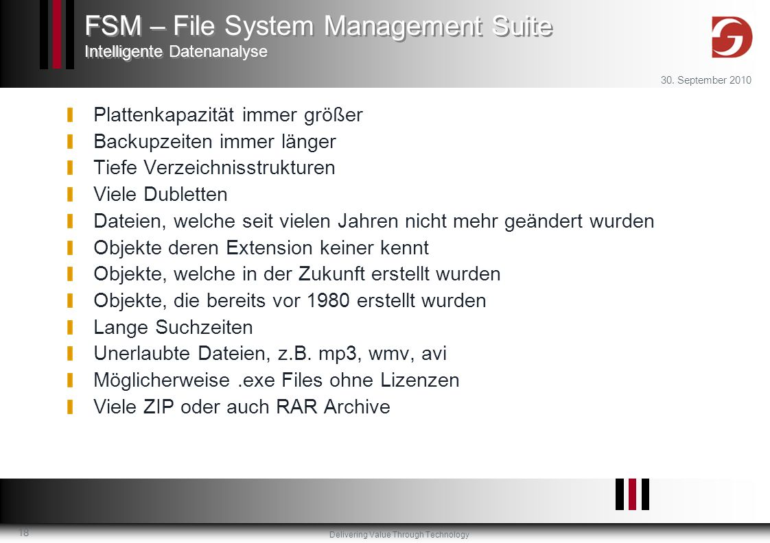 FSM – File System Management Suite Intelligente Datenanalyse