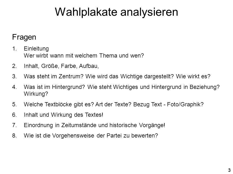 Wahlplakate analysieren