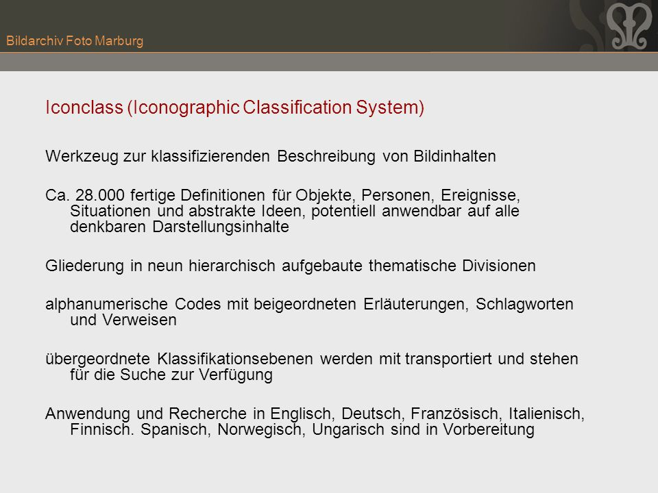 Iconclass (Iconographic Classification System)