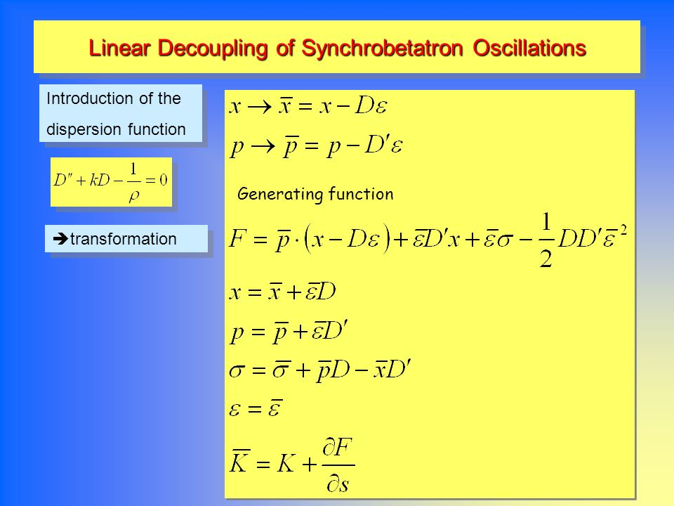 Linear Decoupling of Synchrobetatron Oscillations