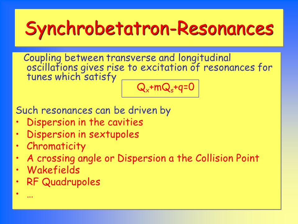 Synchrobetatron-Resonances