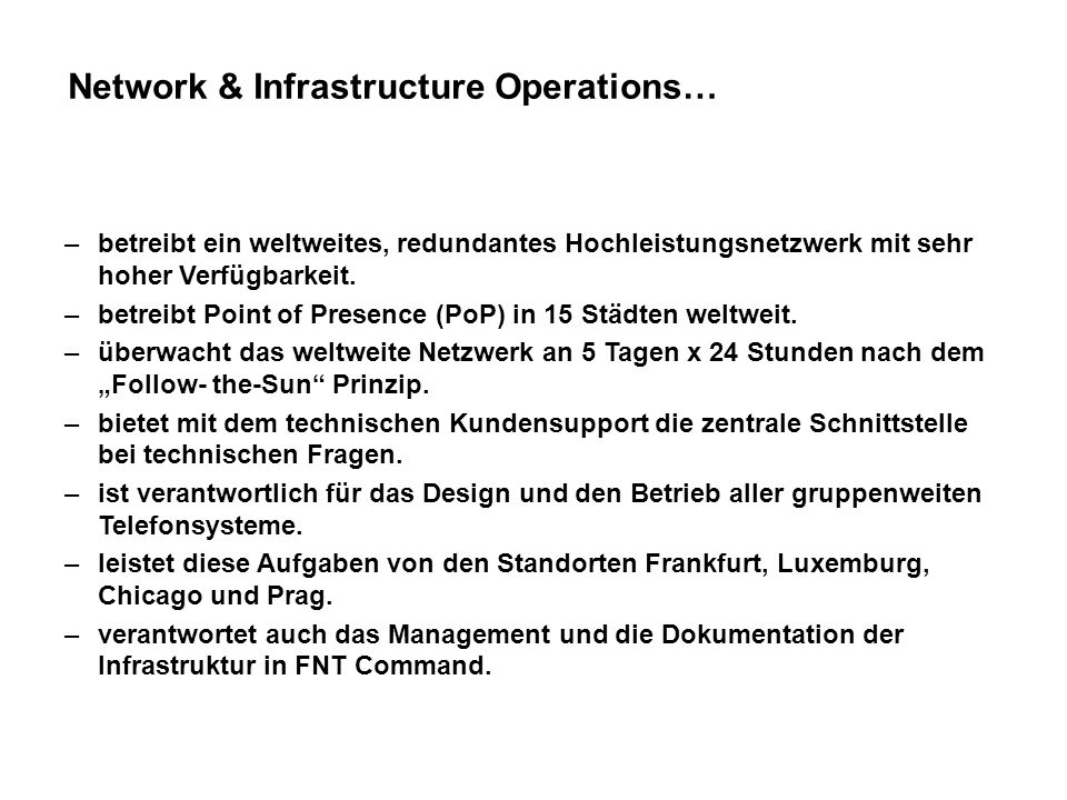 Network & Infrastructure Operations…