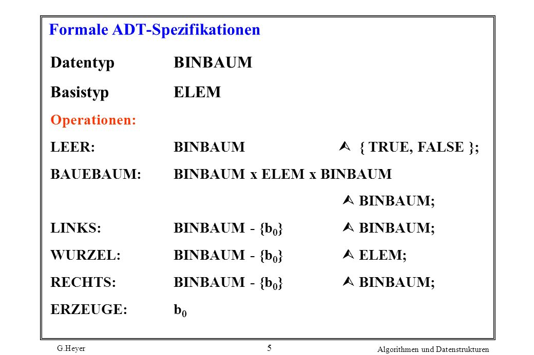 Formale ADT-Spezifikationen