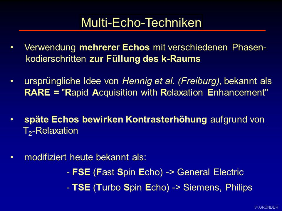 Multi-Echo-Techniken