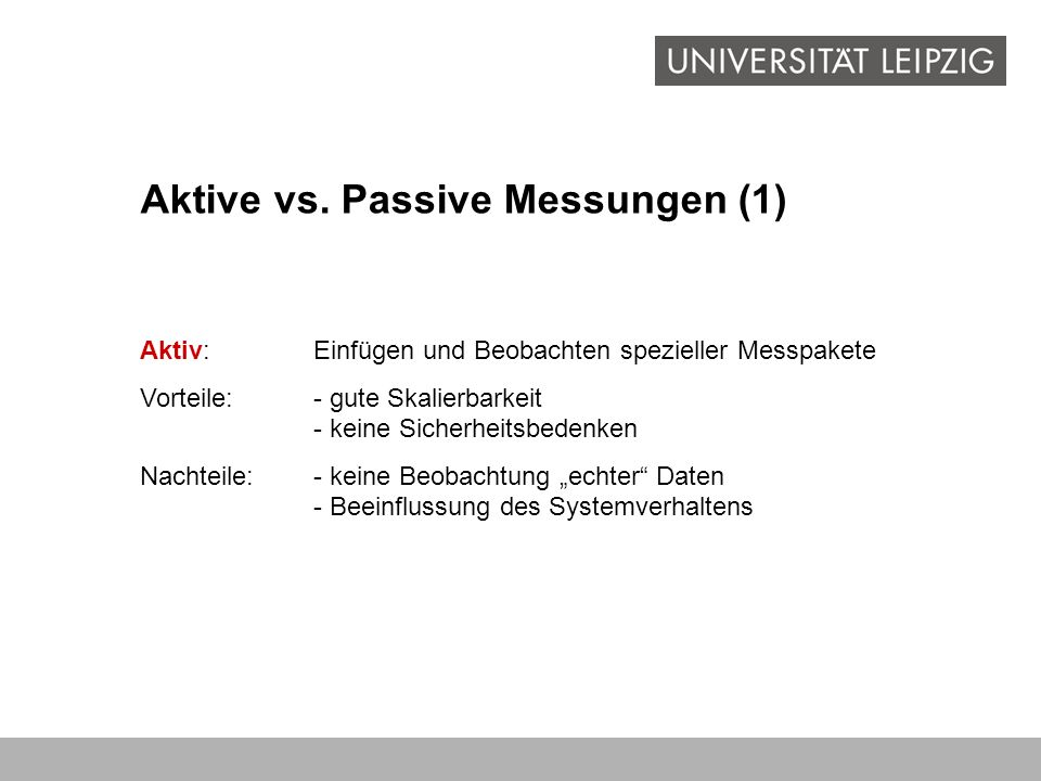 Aktive vs. Passive Messungen (1)