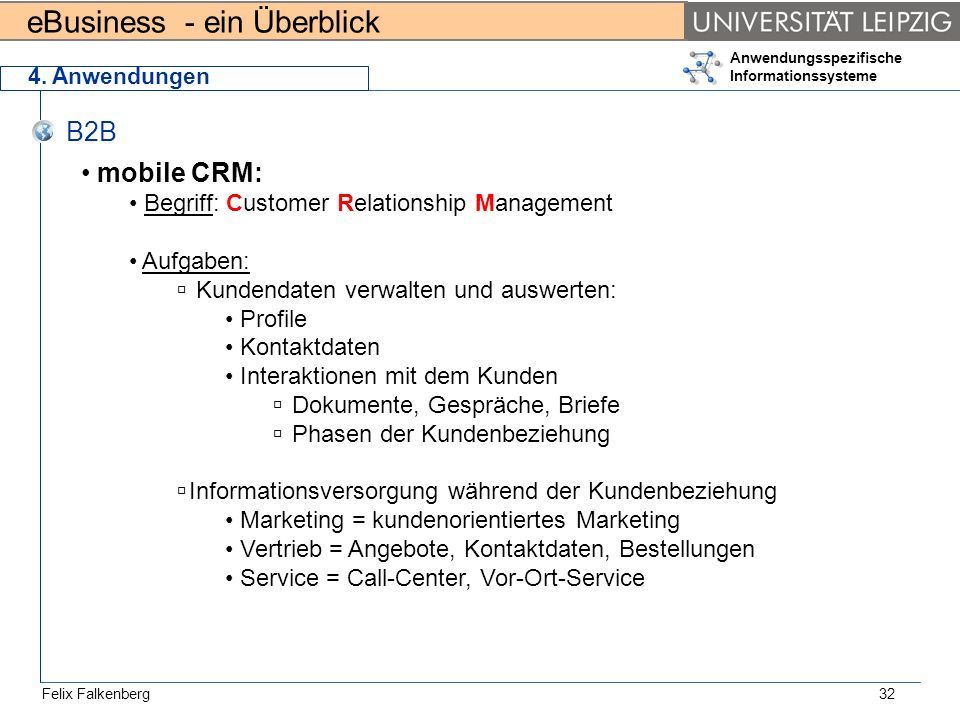 B2B mobile CRM: Begriff: Customer Relationship Management Aufgaben: