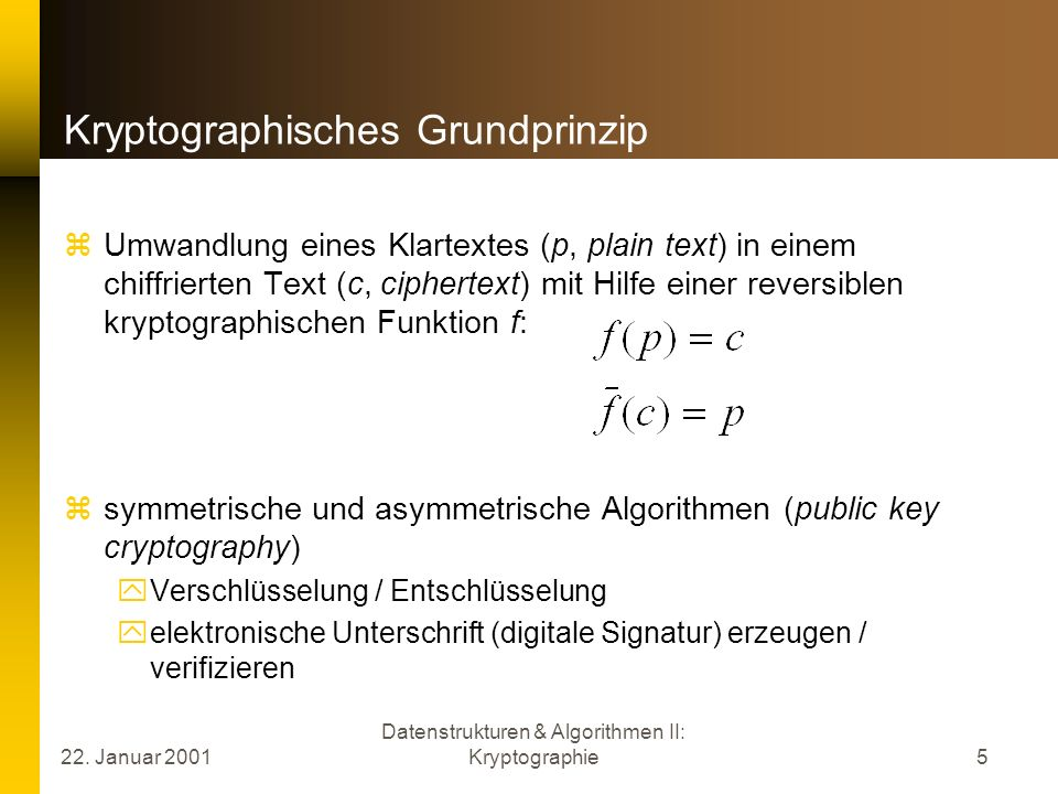 Kryptographisches Grundprinzip