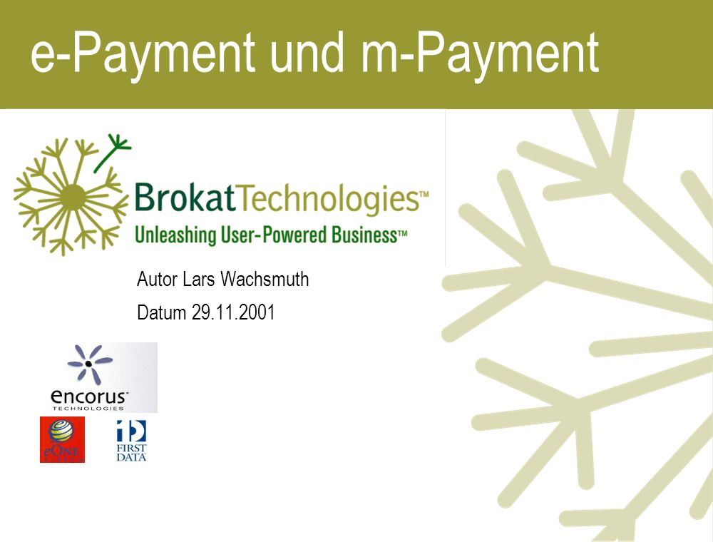 e-Payment und m-Payment