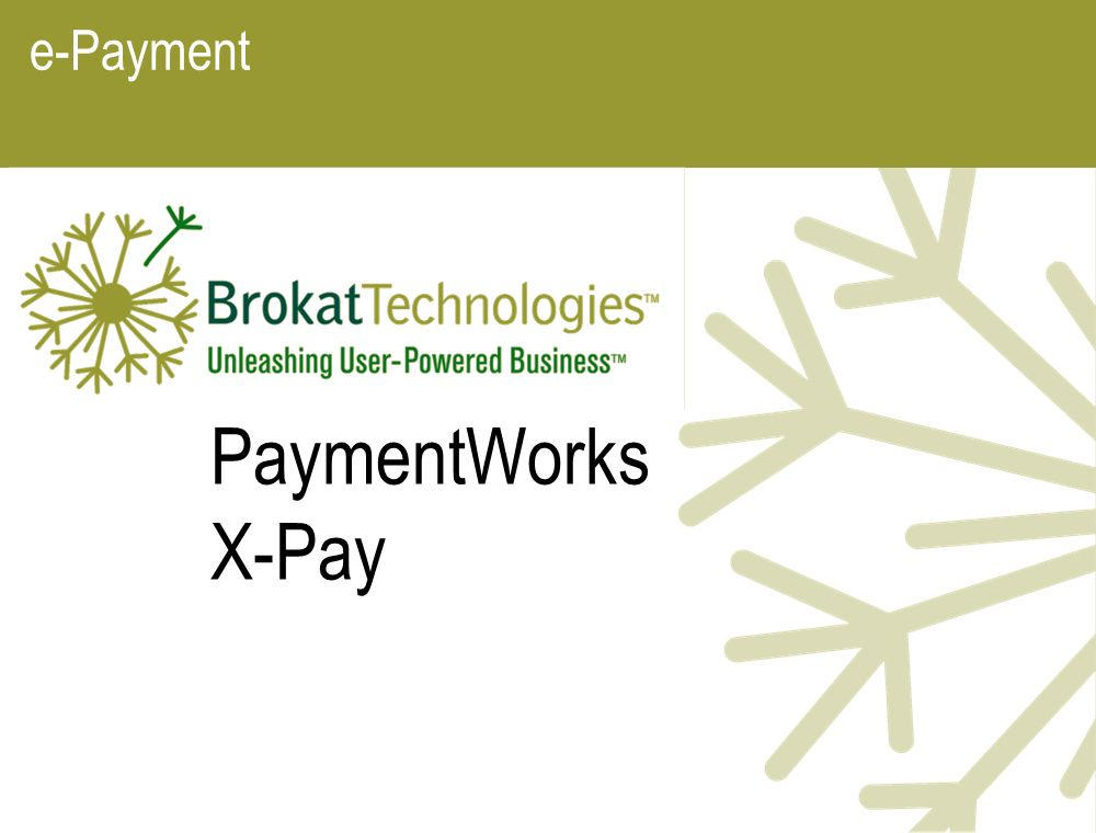 e-Payment PaymentWorks X-Pay