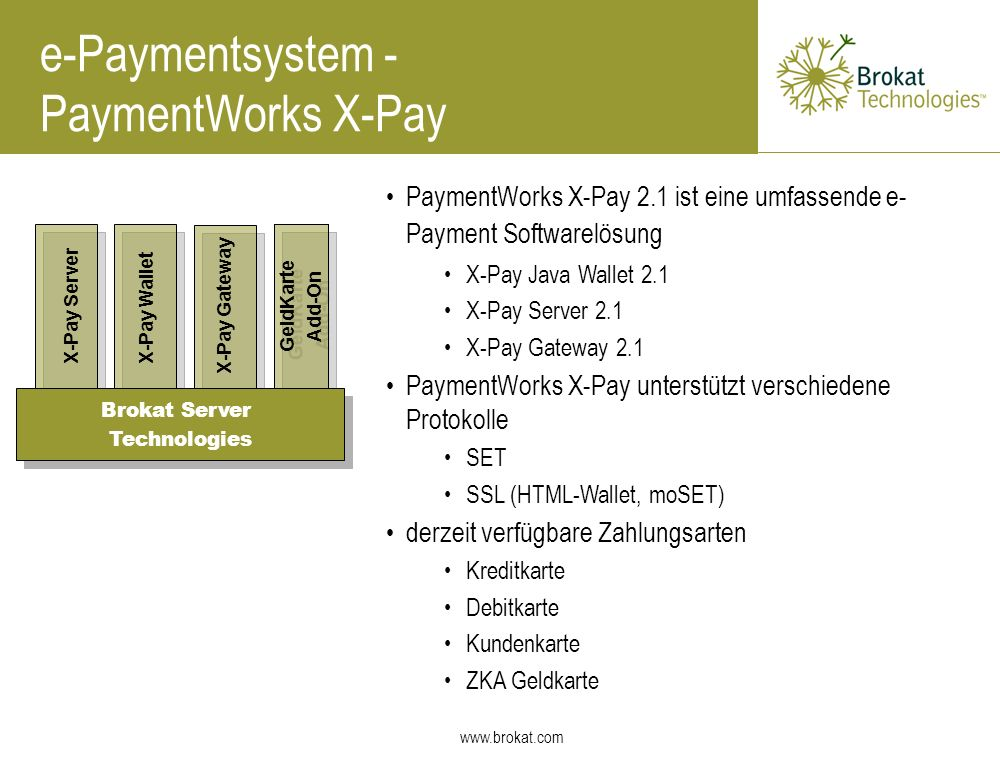 e-Paymentsystem - PaymentWorks X-Pay