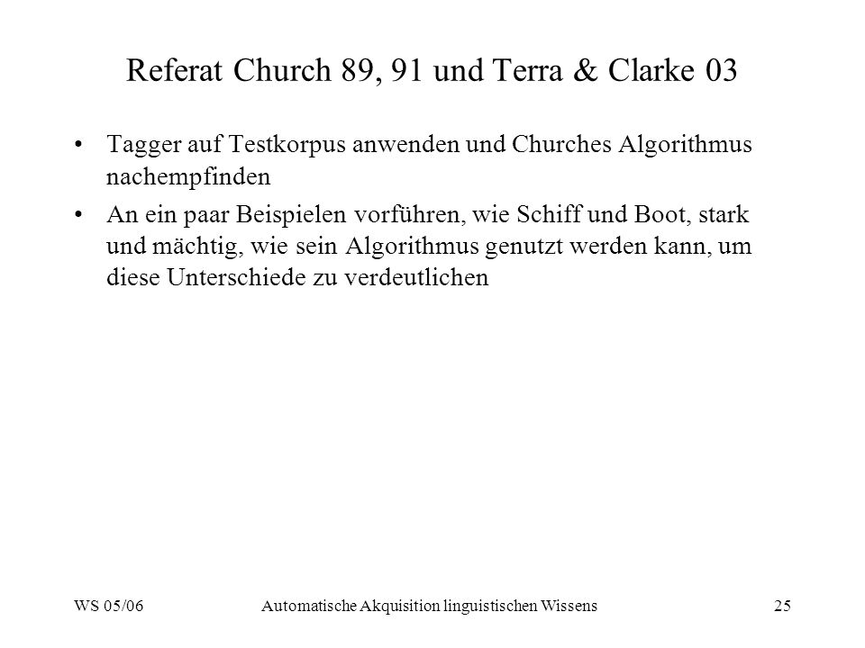 Referat Church 89, 91 und Terra & Clarke 03