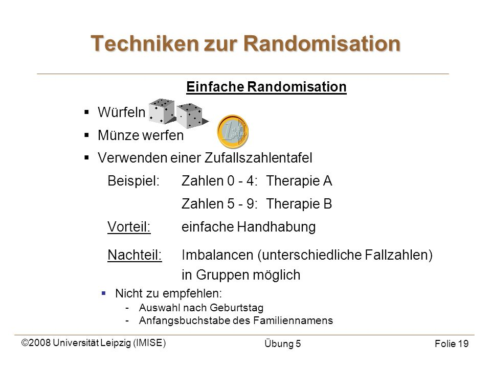 Techniken zur Randomisation
