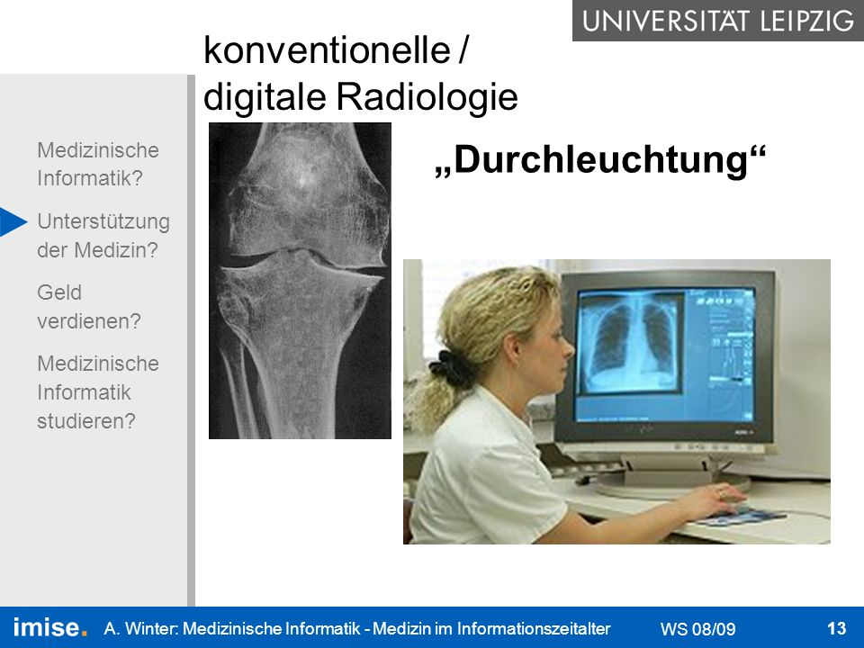 konventionelle / digitale Radiologie