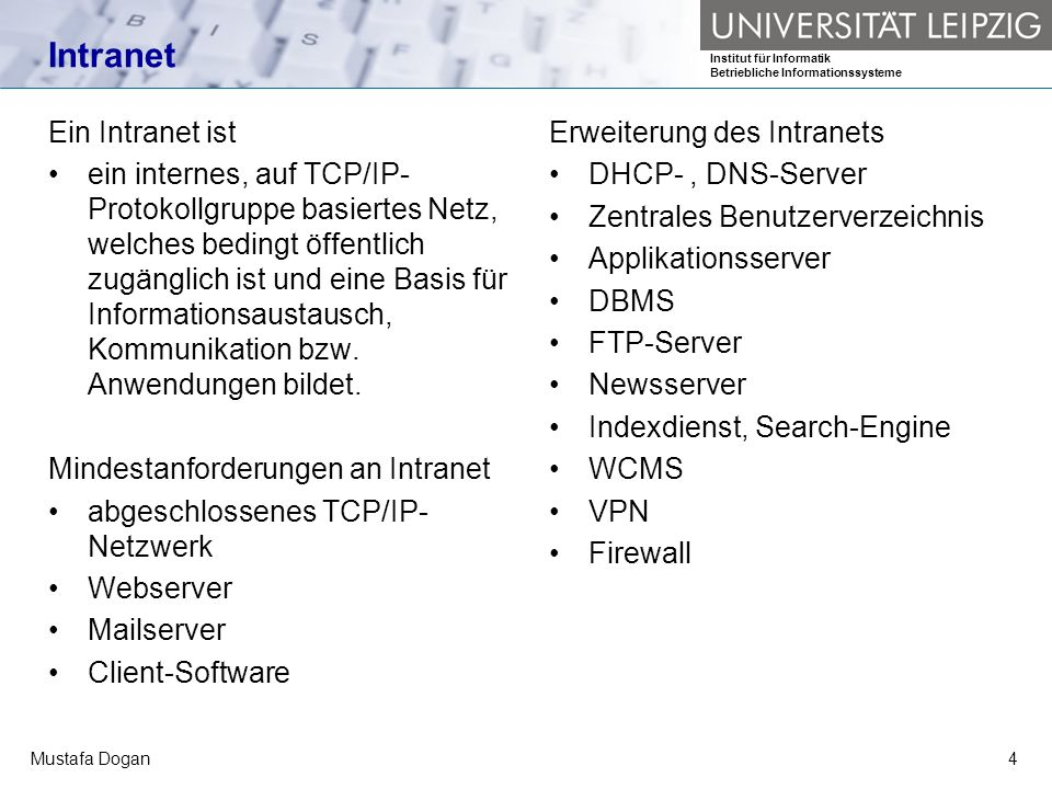 Intranet Ein Intranet ist