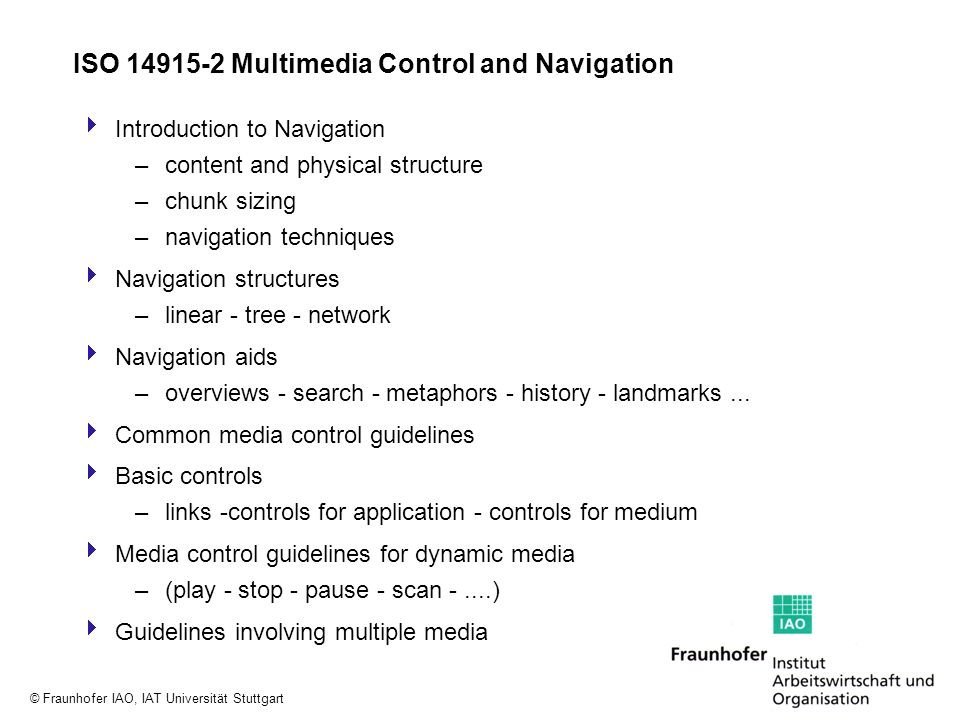 ISO Multimedia Control and Navigation