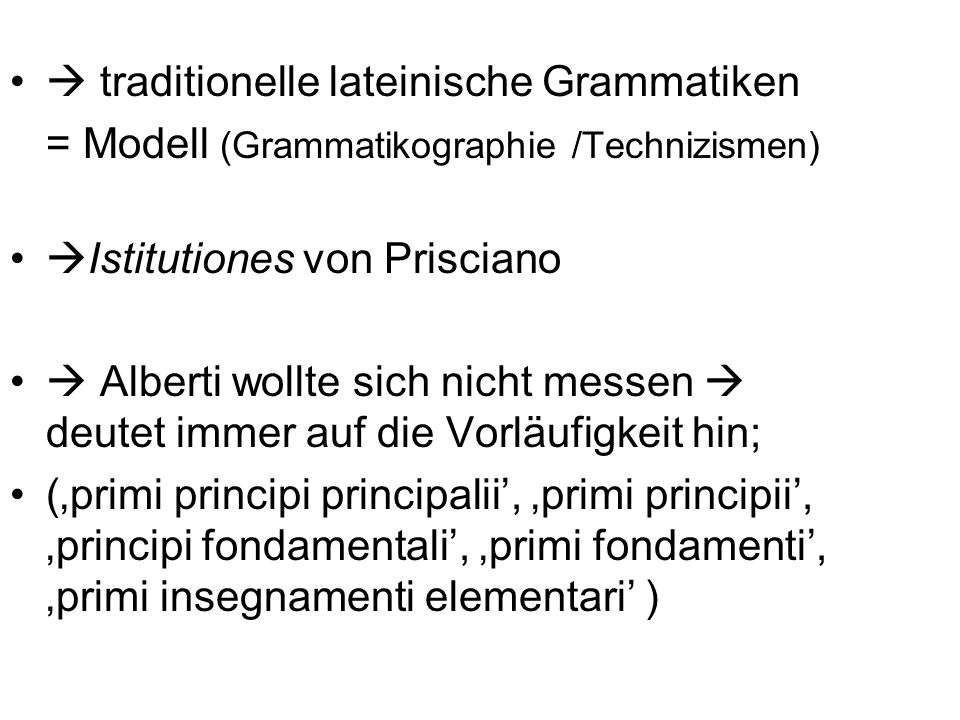  traditionelle lateinische Grammatiken