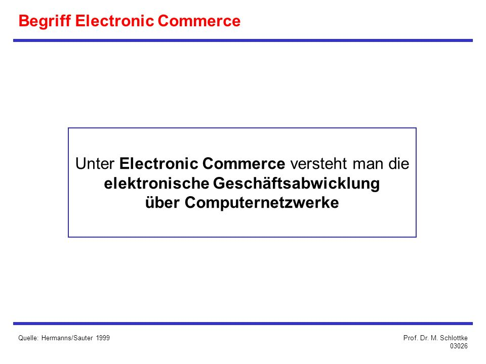 Begriff Electronic Commerce
