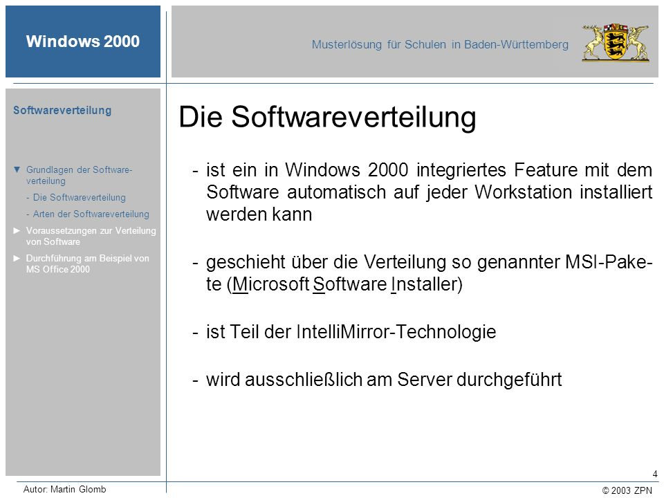 Die Softwareverteilung