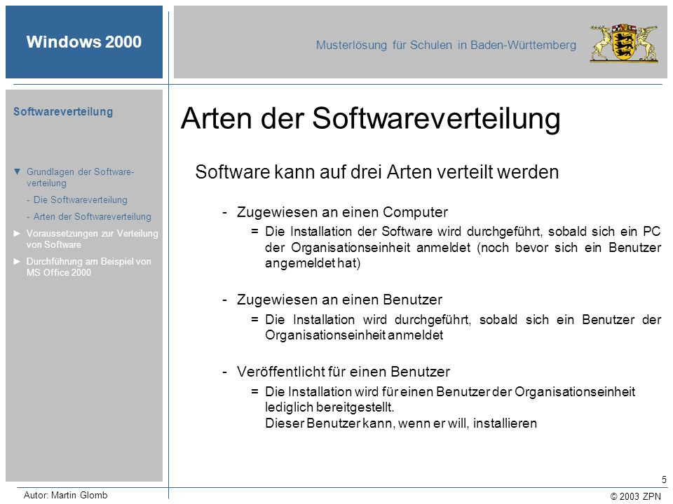 Arten der Softwareverteilung
