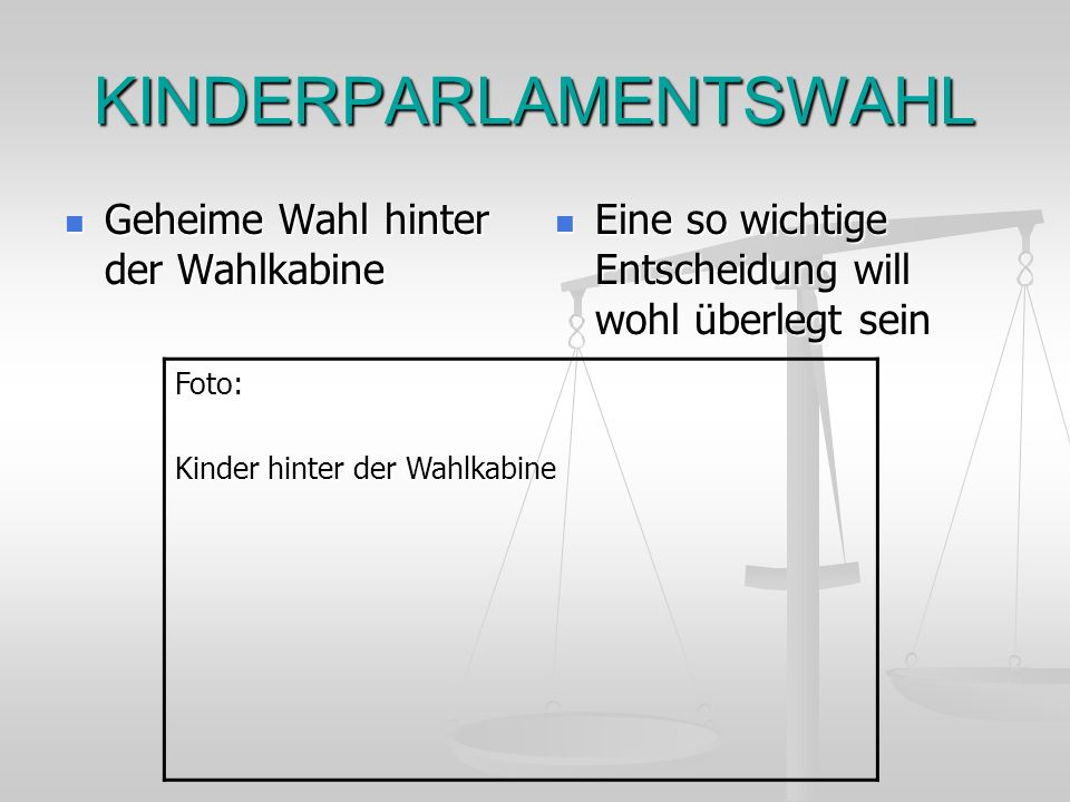 KINDERPARLAMENTSWAHL