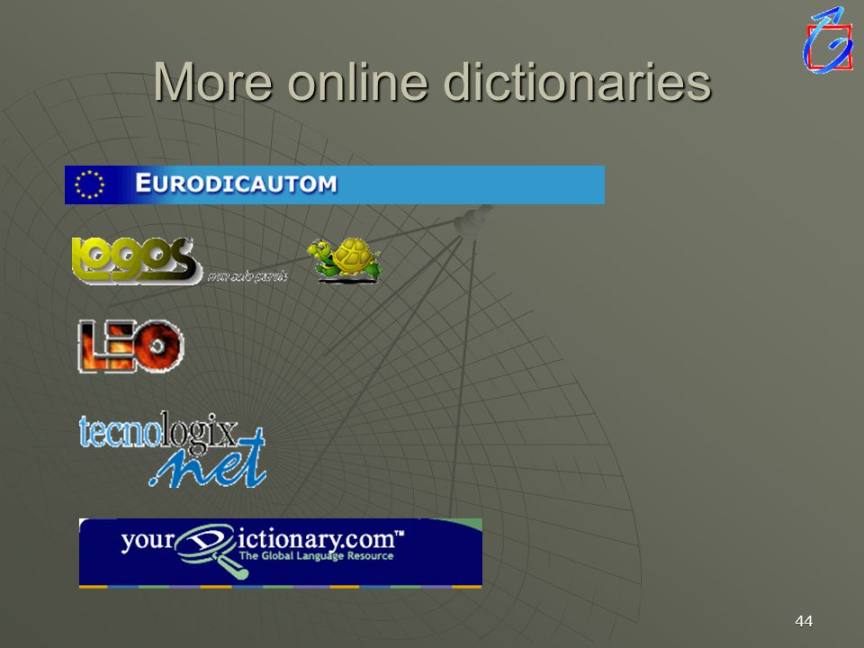 More online dictionaries