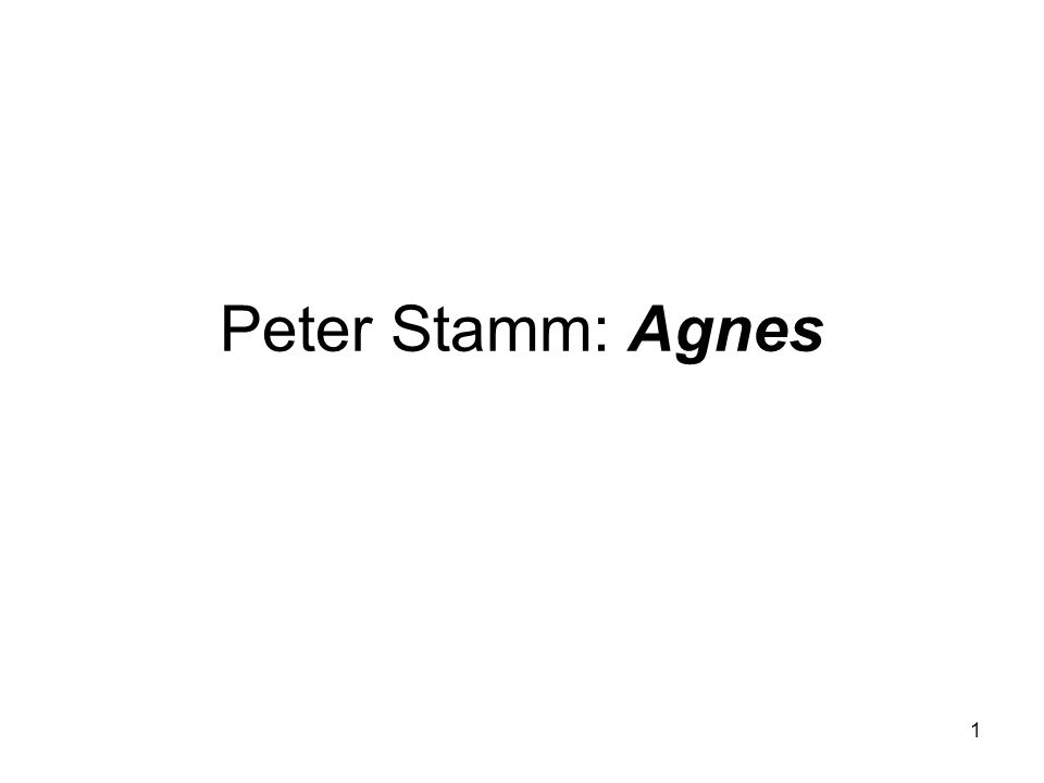 Peter Stamm: Agnes