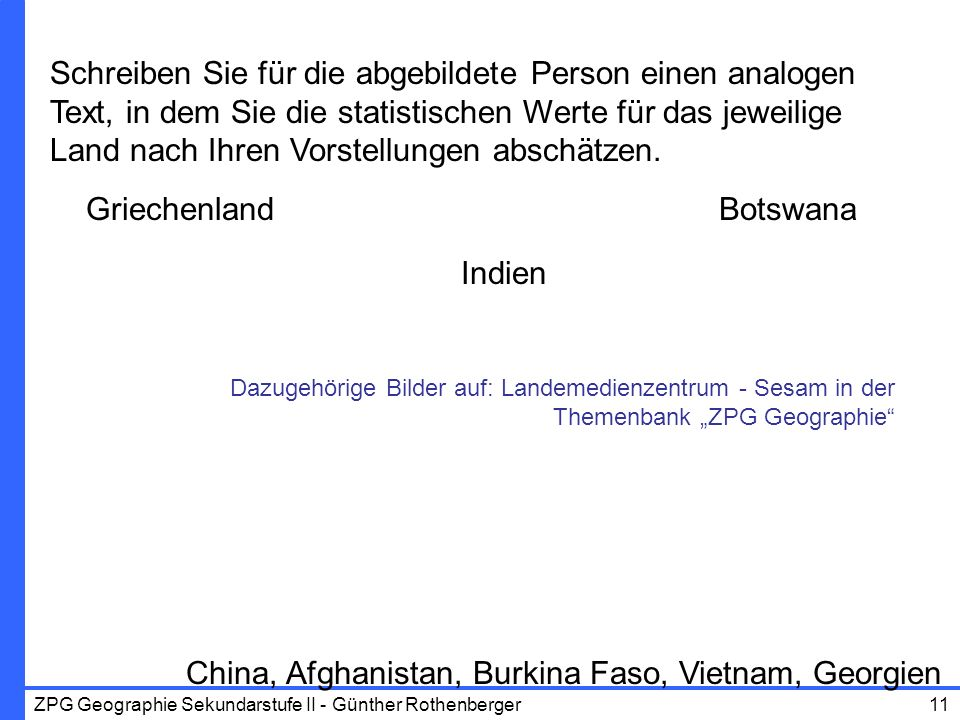 China, Afghanistan, Burkina Faso, Vietnam, Georgien