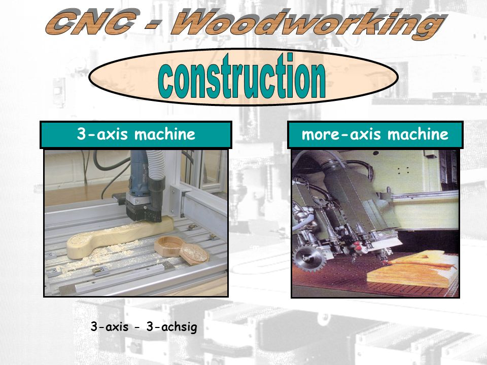 construction CNC - Woodworking 3-axis machine more-axis machine