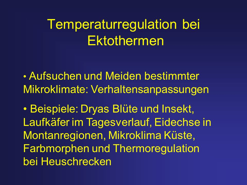 Temperaturregulation bei Ektothermen