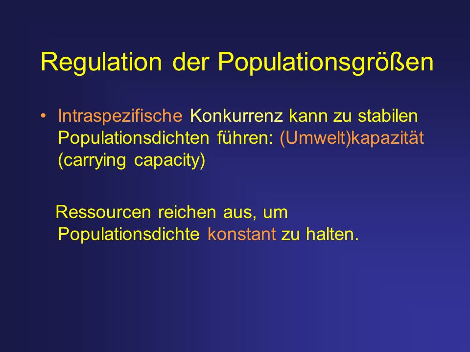 Regulation der Populationsgrößen