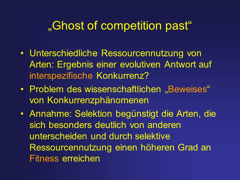 """Ghost of competition past"