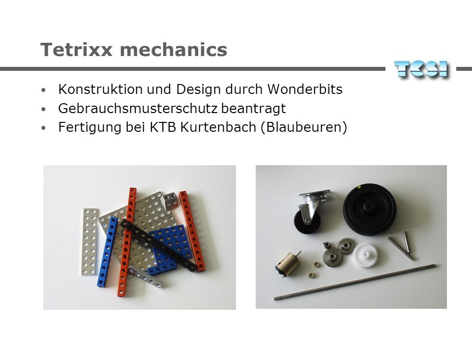 Tetrixx mechanics Konstruktion und Design durch Wonderbits