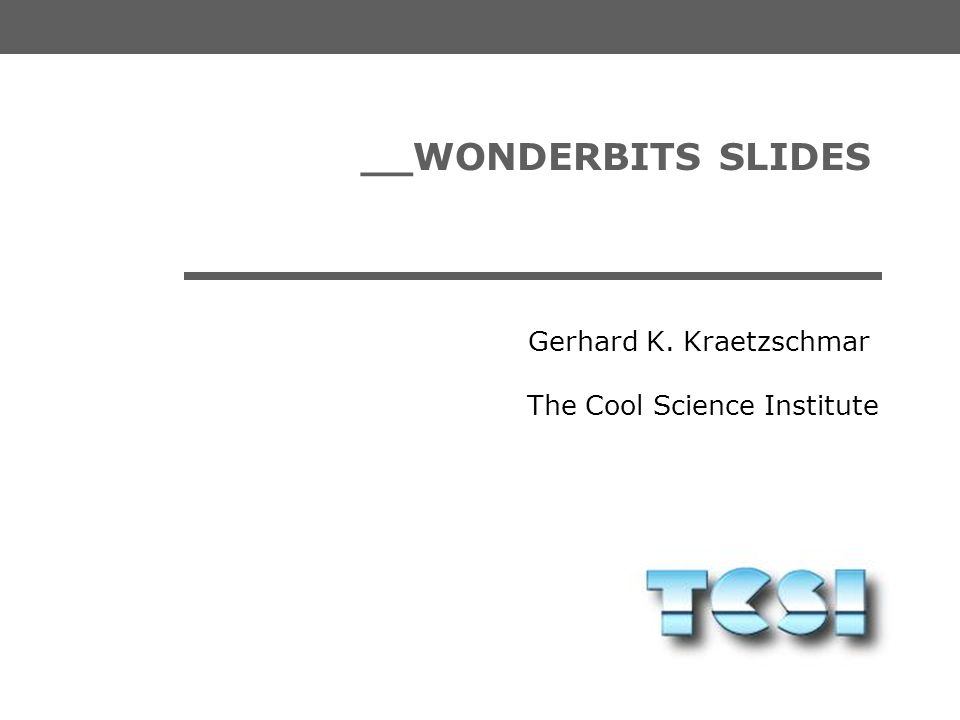 __WONDERBITS SLIDES