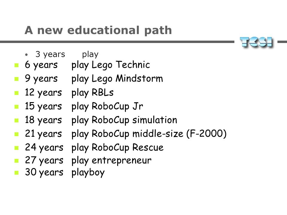 A new educational path 6 years play Lego Technic