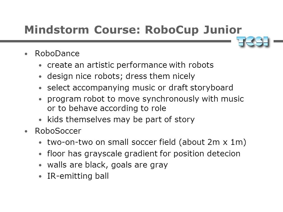 Mindstorm Course: RoboCup Junior