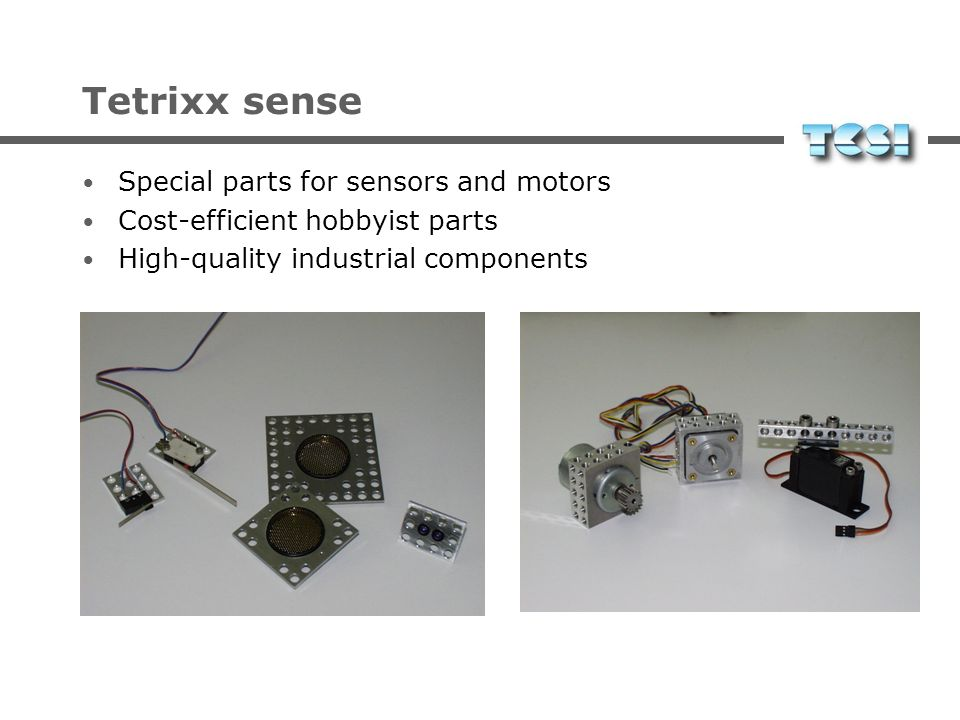 Tetrixx sense Special parts for sensors and motors