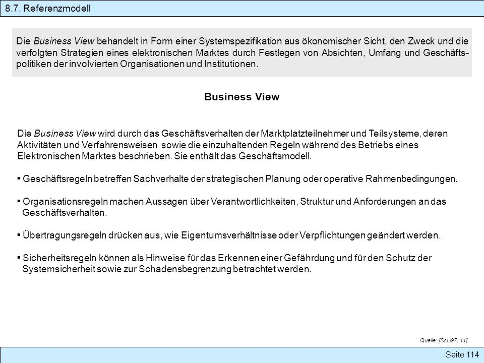 Business View 8.7. Referenzmodell