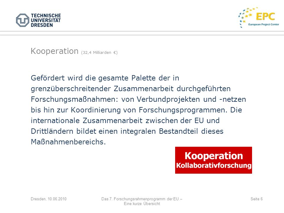 Kooperation (32,4 Milliarden €)
