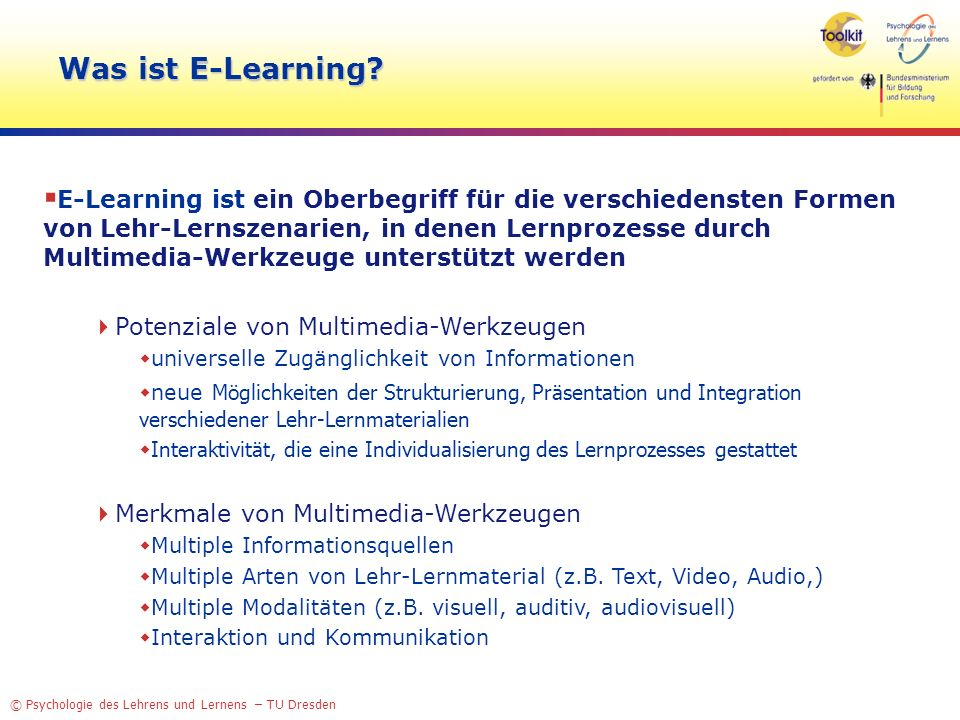Was ist E-Learning