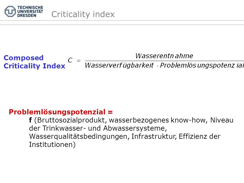 Criticality index Composed Criticality Index